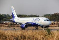 индиго авиакомпаний стоковые изображения