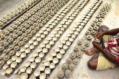 индийская гончарня Стоковые Фотографии RF
