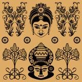 Индийская декоративная картина иллюстрация штока