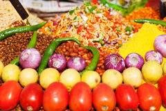 Индийская еда улицы стоковые фотографии rf