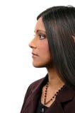 индийская женщина профиля стоковая фотография rf