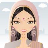 индийская женщина иллюстрация вектора