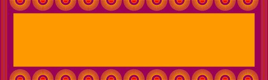 Индийская конструкция карточки Стоковая Фотография