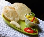 Индийская кухня, вегетарианская подготовка Стоковое Изображение RF