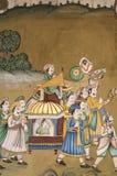 индийская настенная роспись Стоковые Фотографии RF
