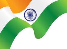 Индийская развевая предпосылка флага иллюстрация вектора
