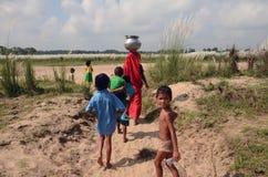 Индийская сельская семья стоковое изображение