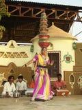 Индийская фольклорная танцулька Стоковое Изображение RF