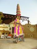 Индийская фольклорная танцулька Стоковые Фото