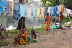 индийская шайба человека Стоковые Фотографии RF