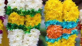 Индийские гирлянды цветка сток-видео