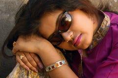 индийские детеныши женщины Стоковое фото RF
