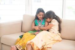 Индийские дети играя дома Стоковая Фотография RF