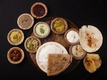 индийские еды обеда Стоковые Изображения RF