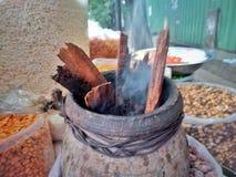 Индийские закуски деревни закусок улицы стоковое изображение rf
