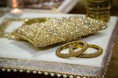 Индийские золотые bangles Стоковые Изображения RF