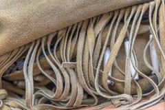 Индийские края на куртке стоковая фотография