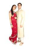 Индийские пары в традиционном износе Стоковое фото RF