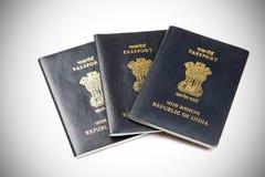 индийские пасспорты стоковое изображение rf
