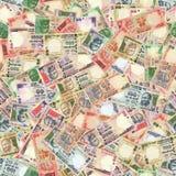 индийские рупии безшовной текстуры стоковое изображение