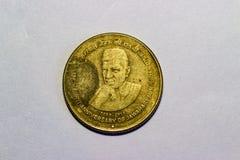 Индийские 5 рупий чеканят 125th годовщину рождения Жашаюарлал Неюру стоковое фото