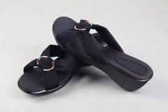 Индийские сделанные дамы сандалия стоковое фото rf