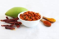 Индийские соленья манго гарнира Стоковая Фотография