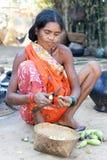 индийские соплеменные женщины села Стоковые Фото