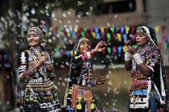 индийские соплеменные женщины стоковое изображение rf