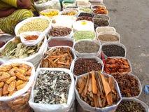 индийские специи рынка Стоковое фото RF