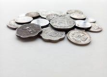 Индийские старые монетки валюты Стоковые Фото