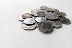 Индийские старые монетки валюты Стоковое фото RF