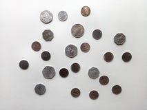 Индийские старые монетки валюты Стоковые Изображения RF