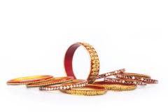 Индийские традиционные цветастые Bangles Стоковые Изображения RF