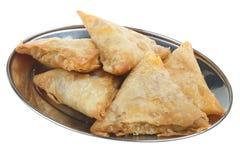 индийские samosas диска Стоковое фото RF