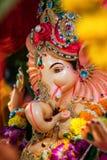 Индийский бог известный как Ganesha или Ganapati стоковое фото