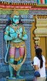 индийский висок статуй Стоковые Изображения