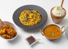 Индийский выбор еды стоковое фото rf