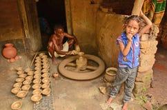 индийский горшечник стоковое изображение
