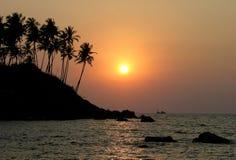 индийский заход солнца Стоковое фото RF