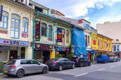 Индийский квартал в Сингапуре Стоковое фото RF