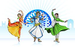 Индийский классический танцор Стоковая Фотография