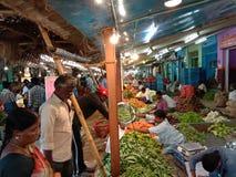 Индийский местный рынок стоковая фотография