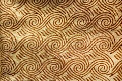индийский напечатанный шелк Стоковые Изображения