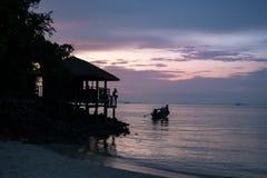 Индийский океан захода солнца Krabi стоковое фото rf