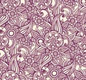 Индийский орнамент, стиль хны Роскошная восточная картина иллюстрация вектора