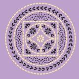 индийский орнамент уроженца мандала Стоковое фото RF