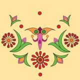 индийский орнамент уроженца мандала Стоковые Фотографии RF