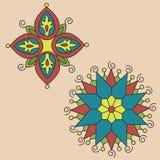 индийский орнамент уроженца мандала Стоковое Изображение
