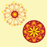 индийский орнамент уроженца мандала Стоковые Изображения
